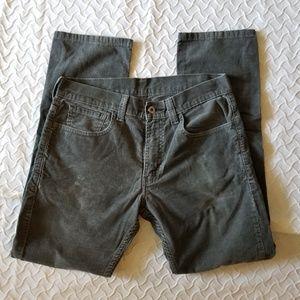 Levi's Grey Corduroy 511 Skinny 33 x 30